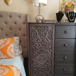 I love it.  Such a statement piece. Lots of storage and good quality.