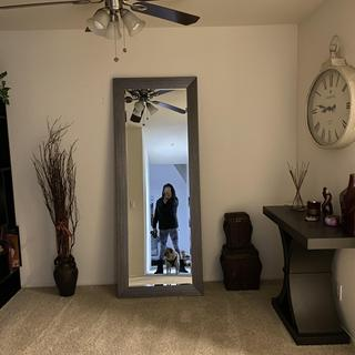 LOVE this mirror!!  It really opened up a dark space beautifully!!