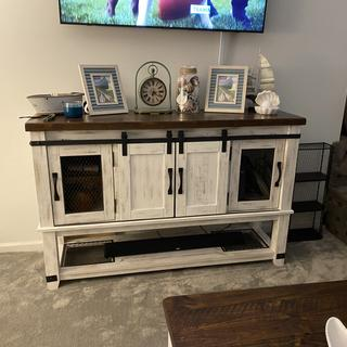 Yes it's marketed as a dinning room server but at my home it's a media table and we love it!!