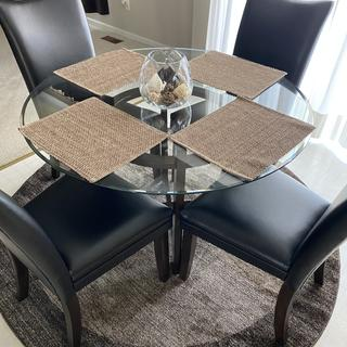 I love my new dining table and chairs from Ashley Furniture!