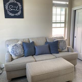 Love my sofa and ottoman!