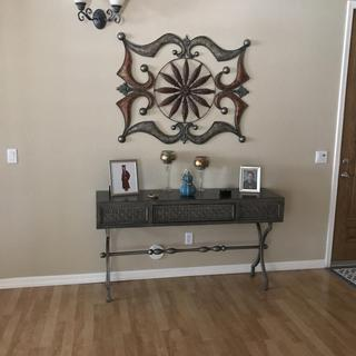 This console table is beautiful and looks great in my foyer.