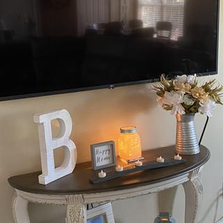 I love it, easy and painless to put together and matches my coffee table perfectly!!