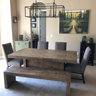 We are in love with our table!! love the Farmhouse style!!