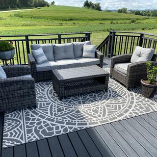 Very happy with this patio set. Comfortable! Would recommend!