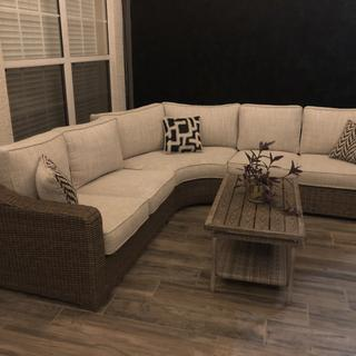 Love our new outdoor sectional!