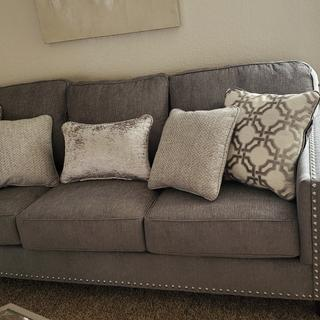 Love my beautiful couch..great quality, modern and comfortable..