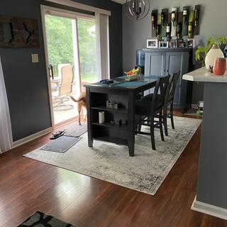 Love the Caitbrook Counter height Bar Stools. They look great with my table!