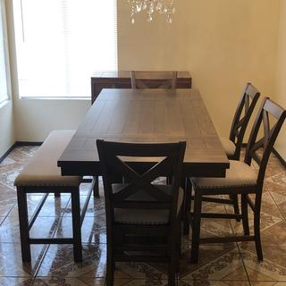 Our new dining room table from Ashley's