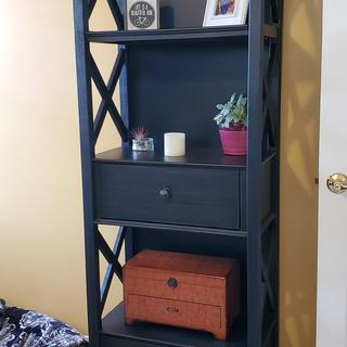Loved my new cabinet, especially the open sides. It works perfectly in our space!