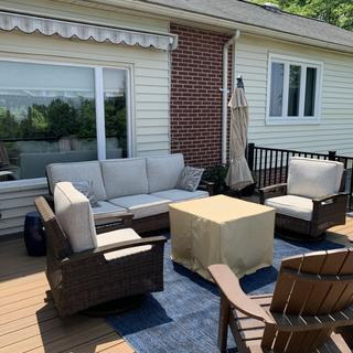 Paradise trail - cozy and comfy. Looks great on my deck!