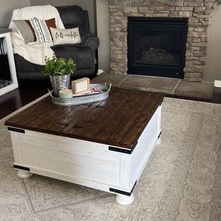 In love with my coffee table! Plenty of storage underneath, very solid and excellent quality!!