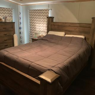 I love this bed! The two nice men who put it together did a great job!