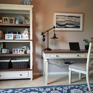 Realyn desk, bookcase and chair! Love the look!