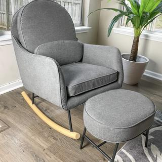This rocker easy to assemble. It's sturdy and super comfortable. Plus easy to clean it