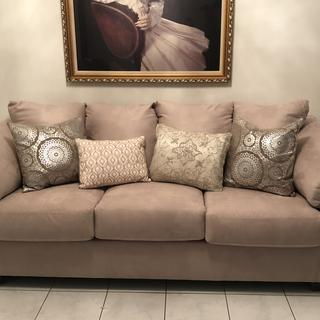Perfect for our home. Nicely made and stylish. Firm cushions so they will hold up.