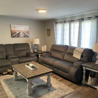 Absolutely in love with these couches! Everything we wanted!