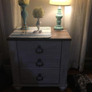 Dark photo, great nightstand