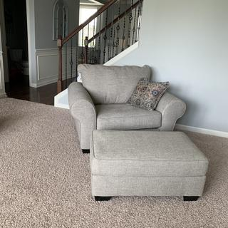 Belcampo Chair And a half w ottoman