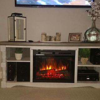 Added my own fire place