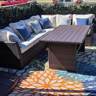 Great Sectional! Perfect for Summer barbecues and pool parties! Very welcoming and comfy!