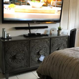This fair ridge accent cabinet matches my bed perfectly