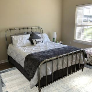 I love this bed!!!! It is sturdy and beautiful and fits perfect in my space.