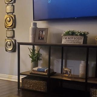 Looks great!I bought the 2 baskets from HomeGoods to add  more storage since there's no bottom