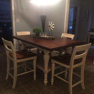 Love this table!  Perfect and nicely put together. Sturdy and looks amazing.