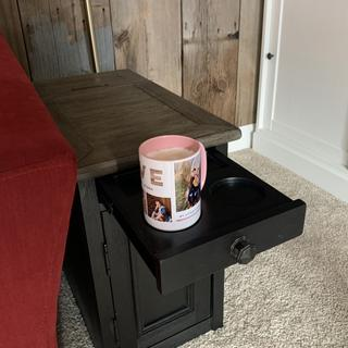 I'm obsessed with the pull out coffee holders!