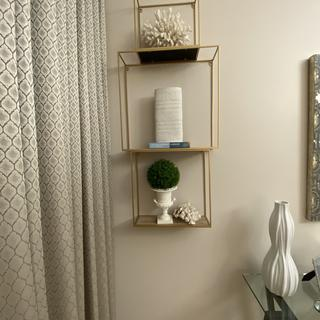 Love this look! Easy to install and so much fun arranging the cubes ..