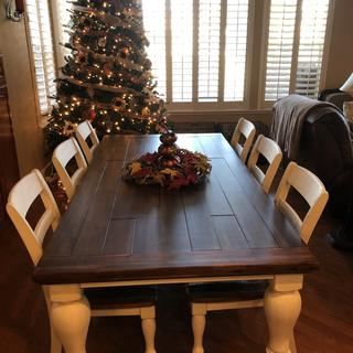 We absolutely love our new table.  It is very solid and the colors are beautiful!!!