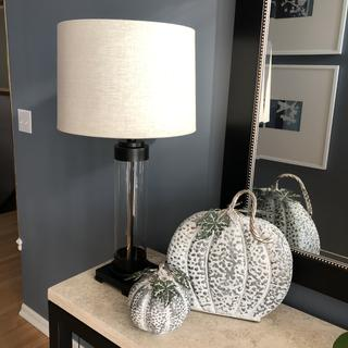 We had two of the same lamp in another room, liked them so much we bought a third for foyer table.