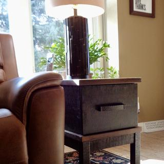 Love the Stanah Chairside End Table! Perfect height, and the ports are a bonus.  Very solid!