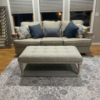 Assembly was straight forward, and quick.  I adore this piece. (Here with Dandrea sofa).