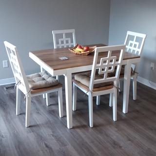 This cute dining set is perfect for what we needed!