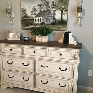 Loved the night stands so much, went back and bought the dresser. Nice cottage/farmhouse feel.