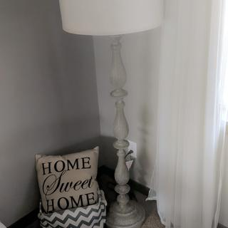 Love my lamp!  Goes well with my rustic themed living room.  Good, heavy duty quality too.