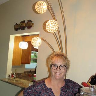 Love this floor lamp...a great find.