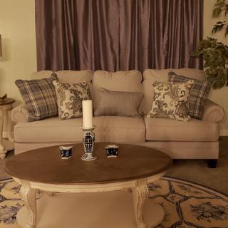 Beautiful Reevesville Sofa in my livingroom. 😁