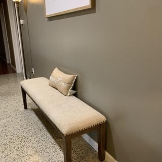 Using as a wall filler/shoe bench. Love it!