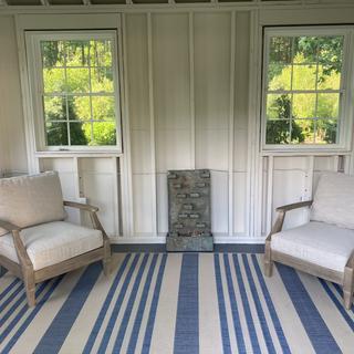 My 2-3 season porch and I'm waiting for the matching sofa! Richard Stratham, NH