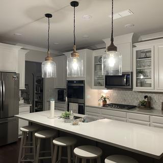 """We LOVE our new kitchen pendants.  They are making a """"statement"""" in my kitchen.  Perfect size!"""