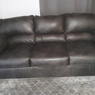 Couch in regular light, not sunshine.