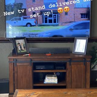 Love it!! Fits perfectly in our living room and the style matches our house perfectly!