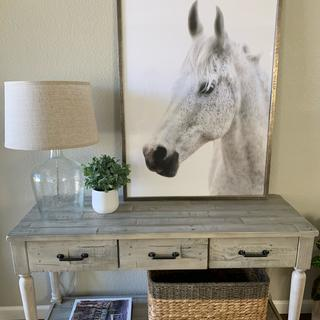 Love this console table! Looks great in my entryway and very easy to assemble.