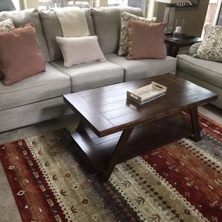 The rug looks great with the furniture!