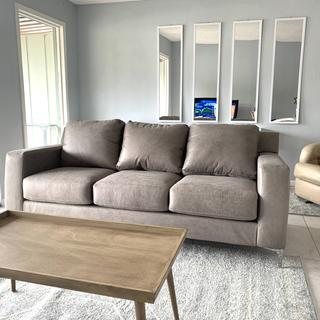 It's such a pretty gray...so happy with this sofa!