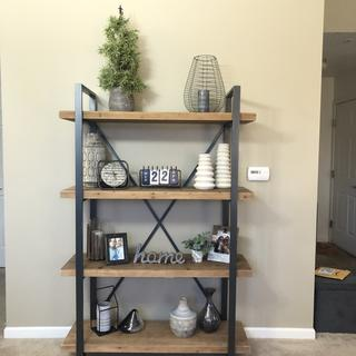 Absolutely LOVE our bookshelf! It's the perfect fit for our wall and our style!