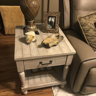 Love our end tables and coffee table!!!